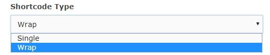 shortcode type