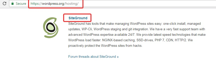 wordpress-recommends-siteground