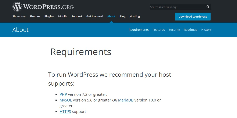 wordpress-gereksinimler