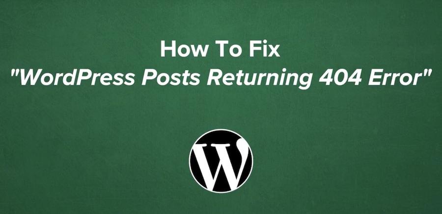 How To Fix The 404 Error in WordPress @ MyThemeShop