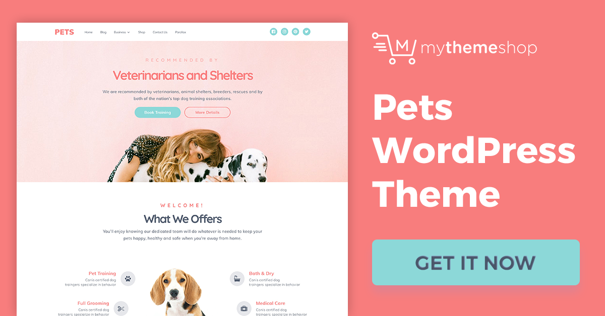 Mythemeshop Download Pets v1.0.4 The Perfect WordPress Theme for Animal Lovers