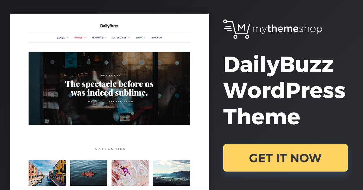 Download Dailybuzz v1.0.6 Mythemeshop Perfect Lifestyle WordPress Theme for Standing Out from the Crowd