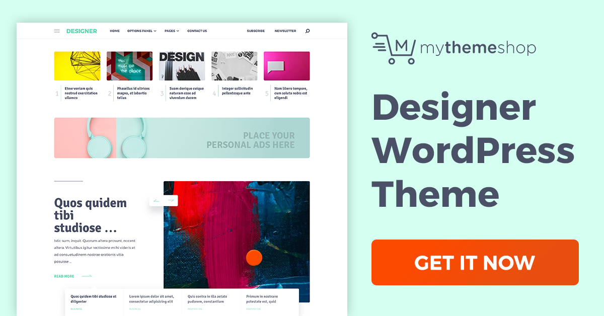 Download Designer v1.0.6 Mythemeshop Hand-Crafted WordPress Theme for Professionals