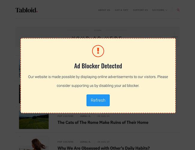 Detects Ad-Blocker