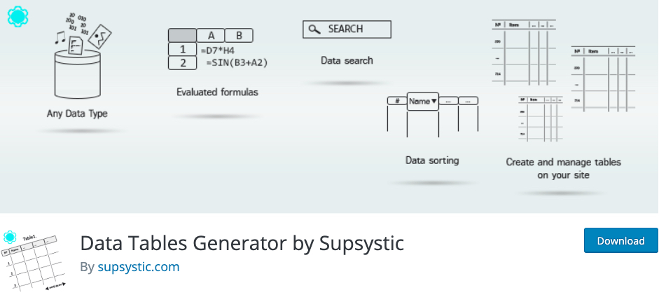 Data-Tables-Generator-by-Supsystic