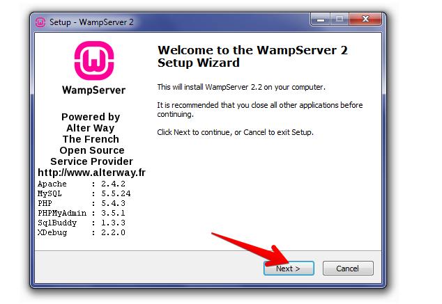 Wamp-setup-wizard
