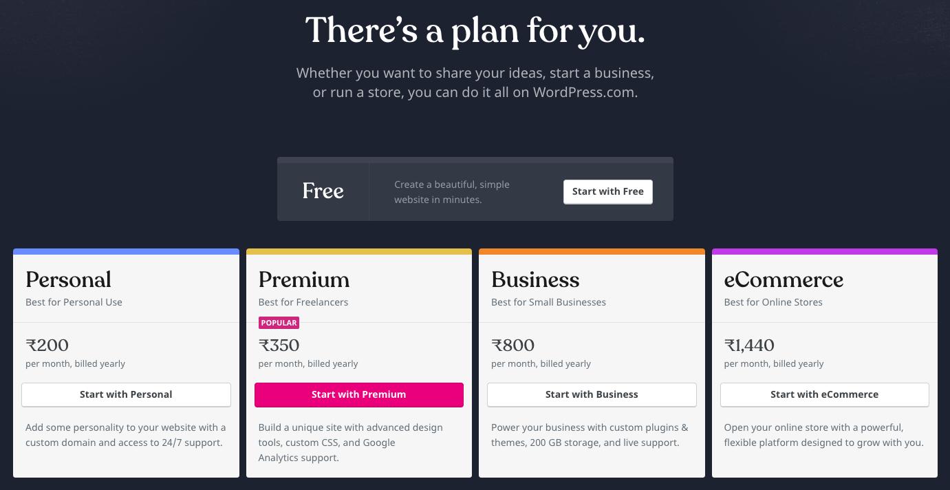 WordPress.com-Pricing