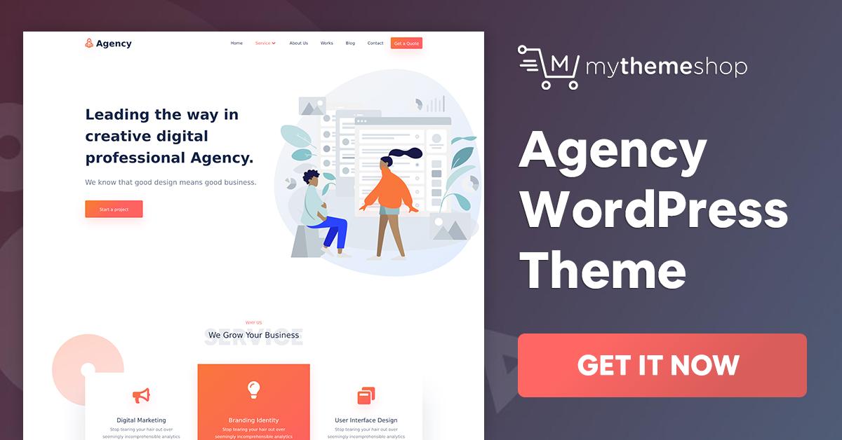 Agency v1.0.1 - WordPress Theme for Service Providers