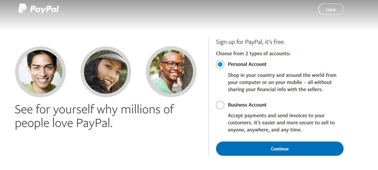 Choose-account-type-paypal