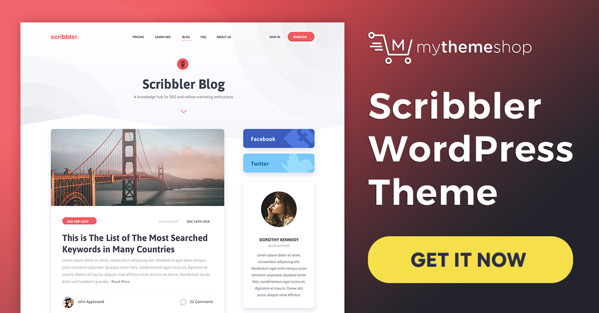 Download Scribbler v1.0.5 Mythemeshop Premium Theme fit for Your Exuberant Content