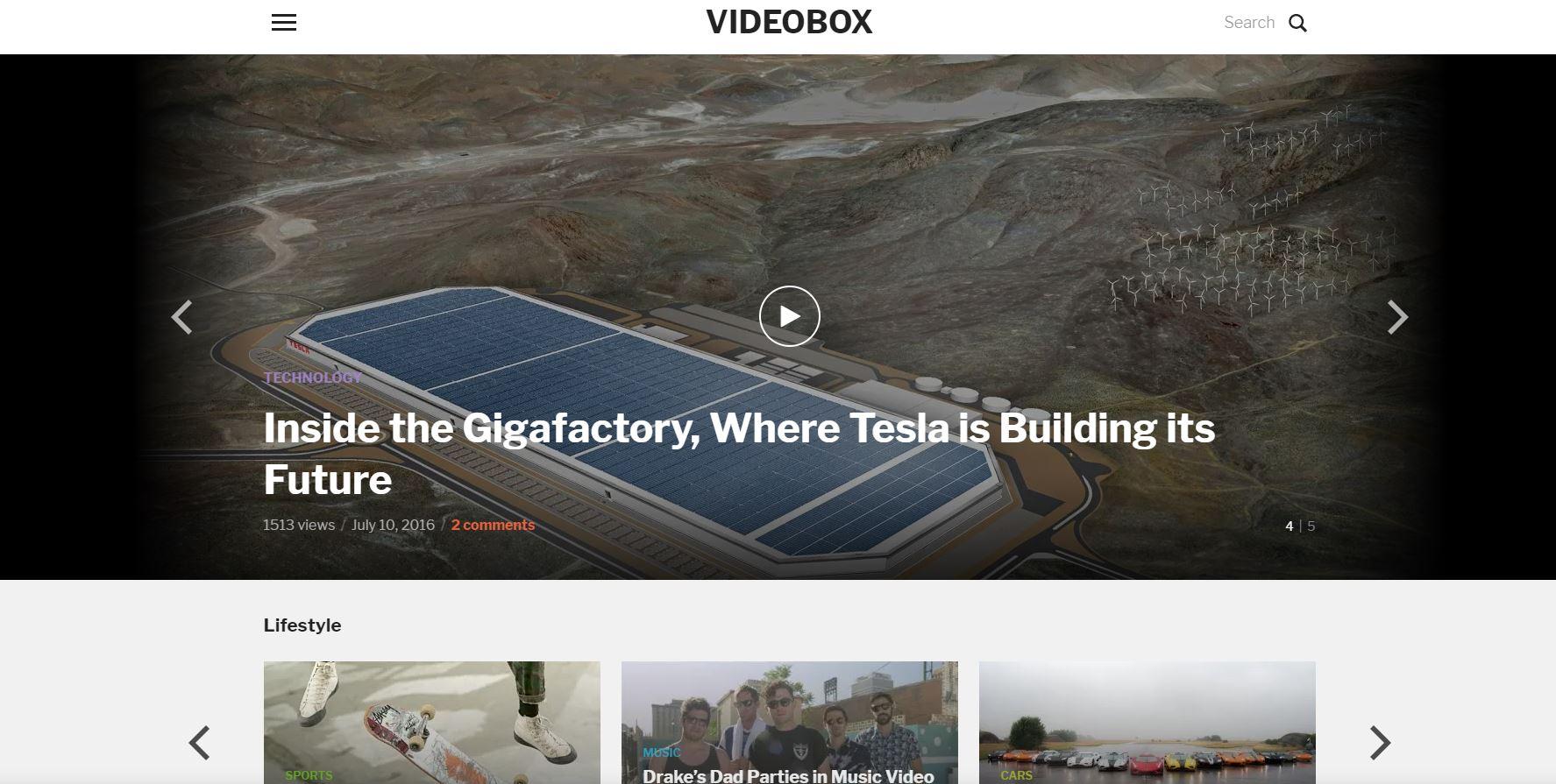 VideoBox Theme