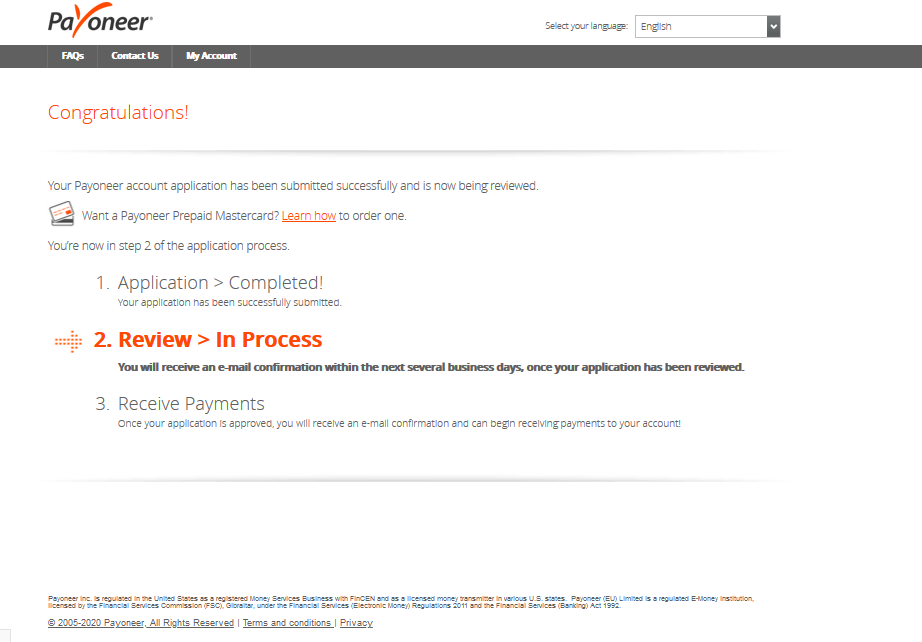 application-complete-congrats-payoneer