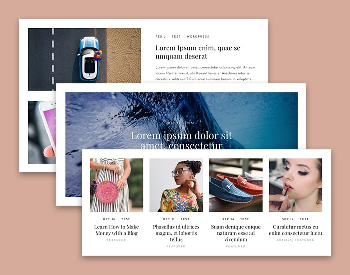 3 Blog Layouts