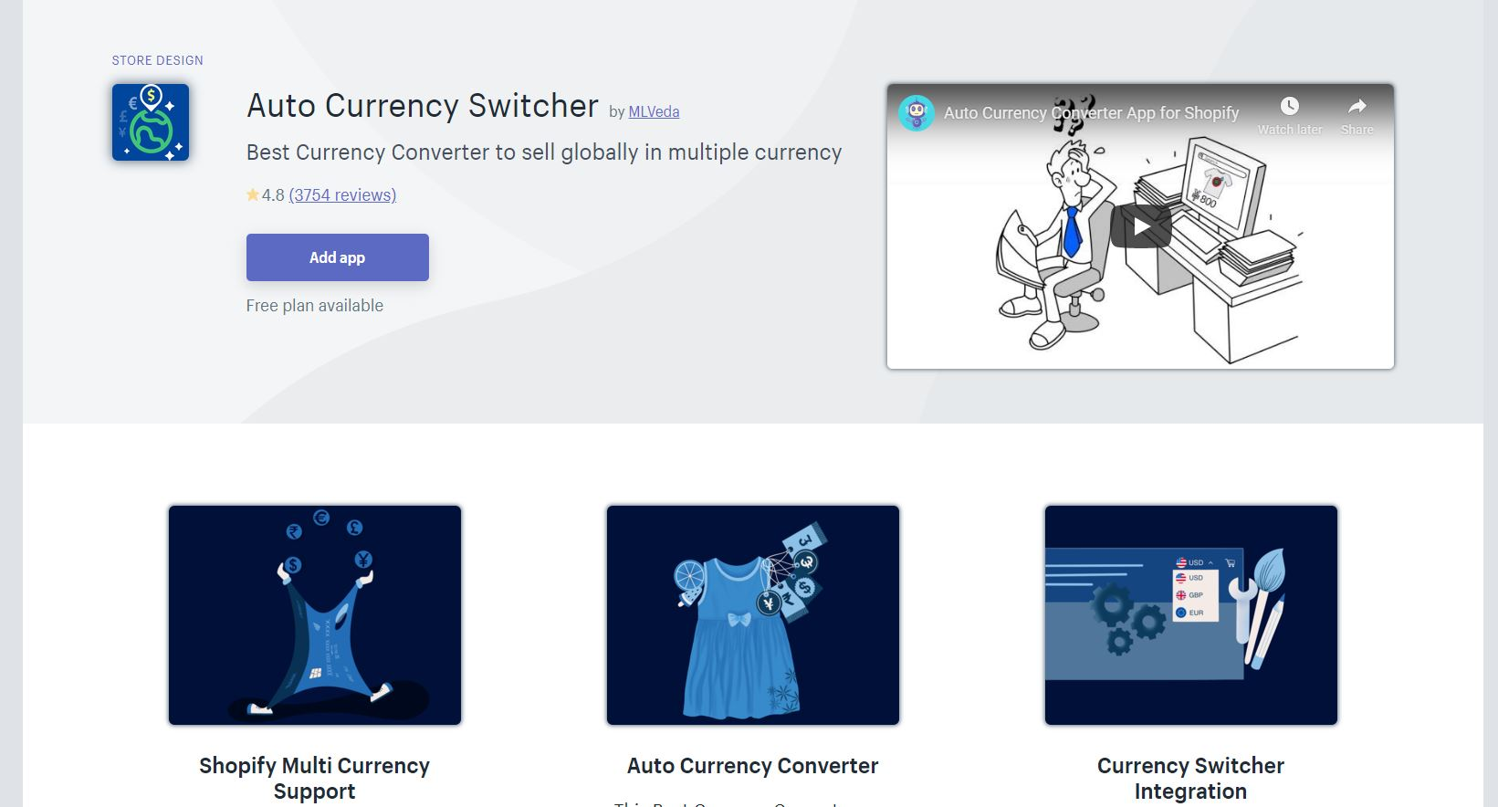 Auto Currency Switcher Shopify App