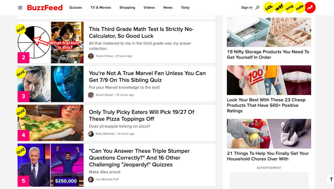 Buzzfeed-quiz