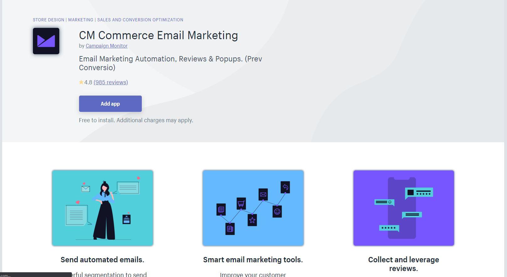 CM Commerce Shopify App