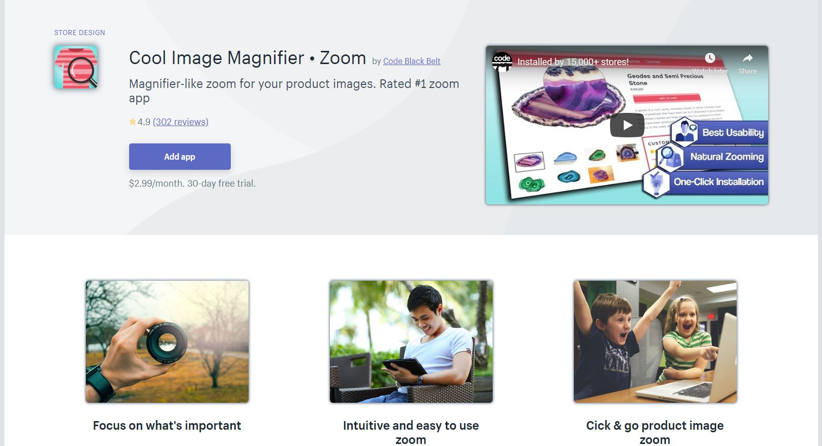 Cool Image Magnifier Shopify App