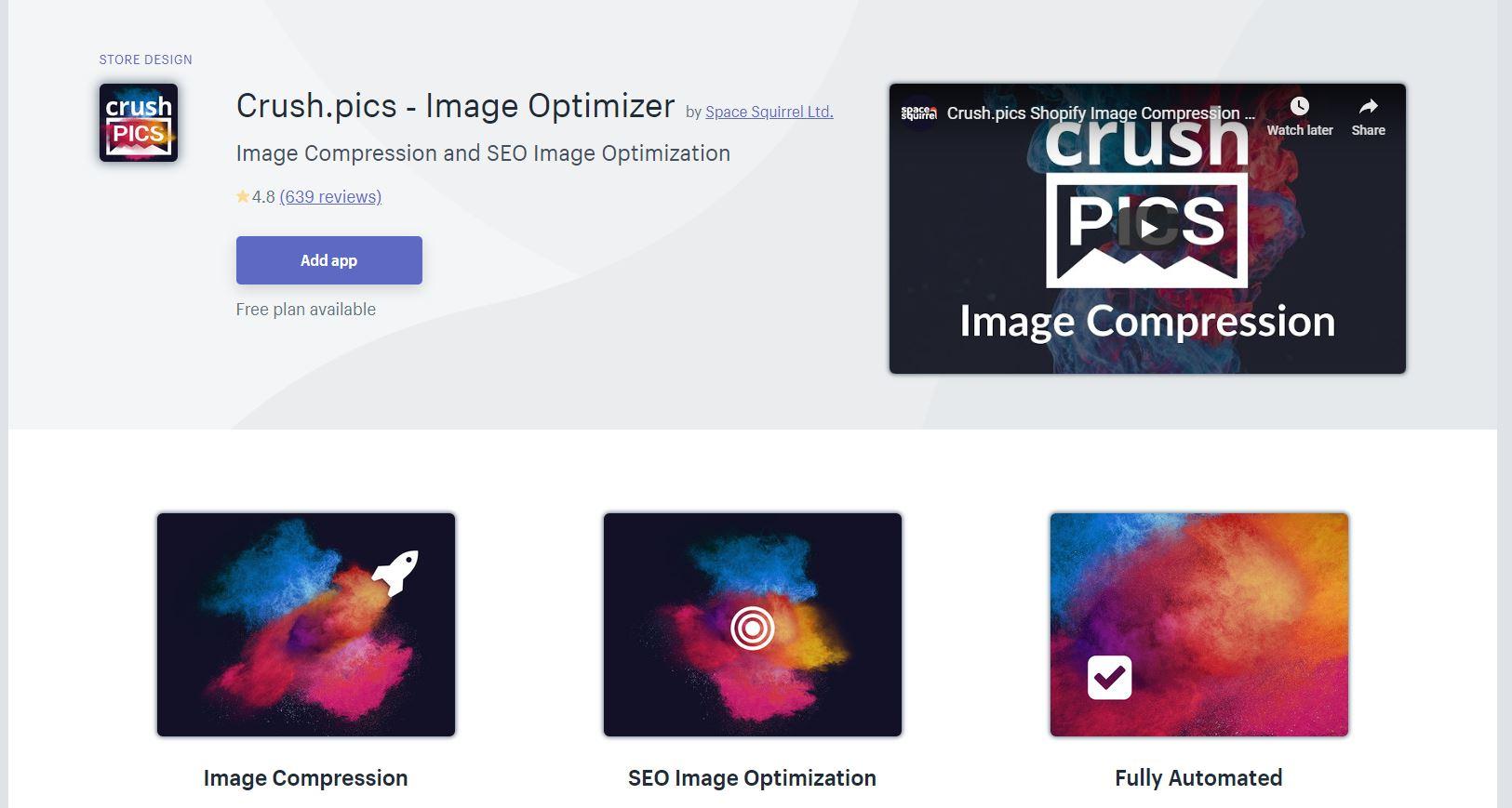 Crush Pics Shopify App
