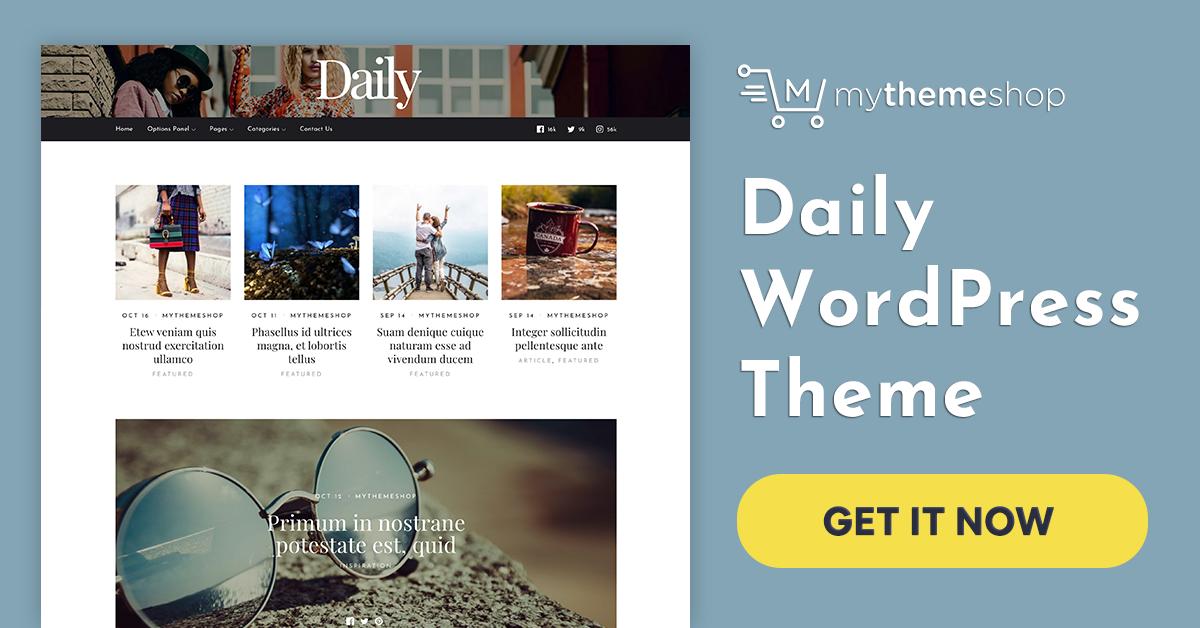 Daily v1.0.2 - Mythemeshop Premium WordPress Theme