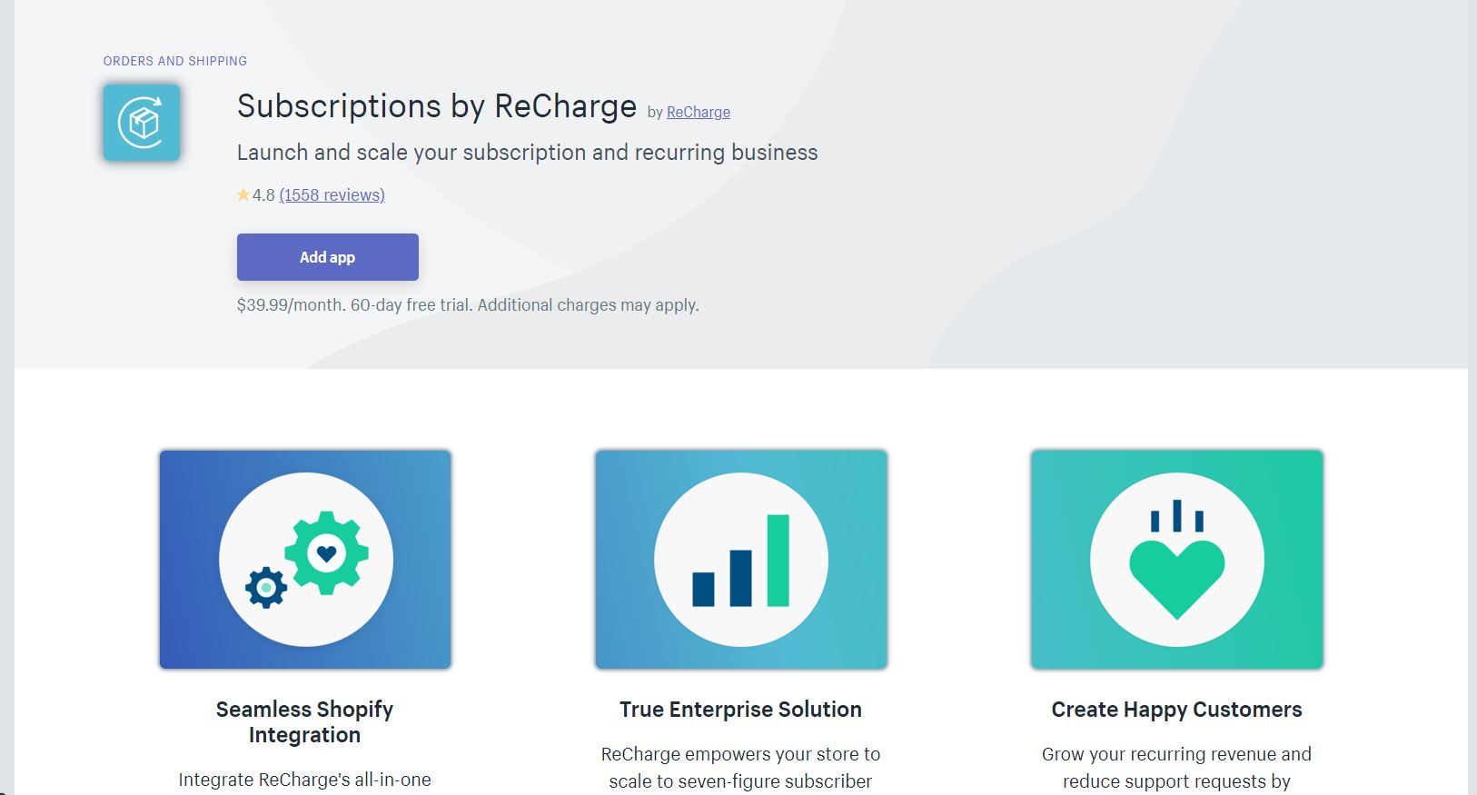 Recharge Shopify App