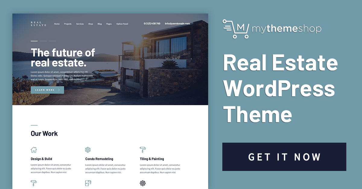 Download Real Estate v1.0.1 Mythemeshop A User-Friendly, Premium Theme for WordPress