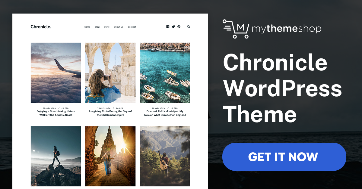 Mythemeshop Chronicle v1.0.1 WP Theme - Turn Your Travel Website into an Expedition