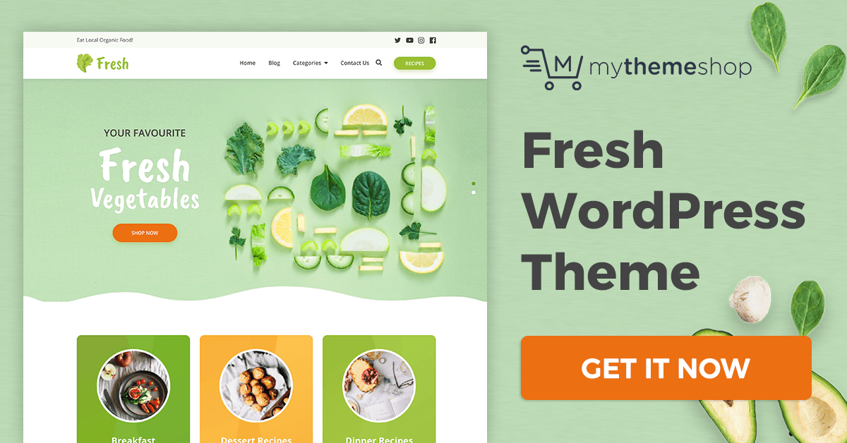 Fresh v1.0.9 Mythemeshop A ReFreshing WordPress Theme for Health Bloggers & Recipes