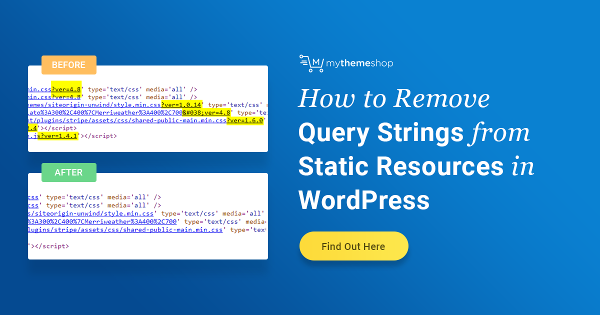 How to Remove Query Strings from Static Resources in