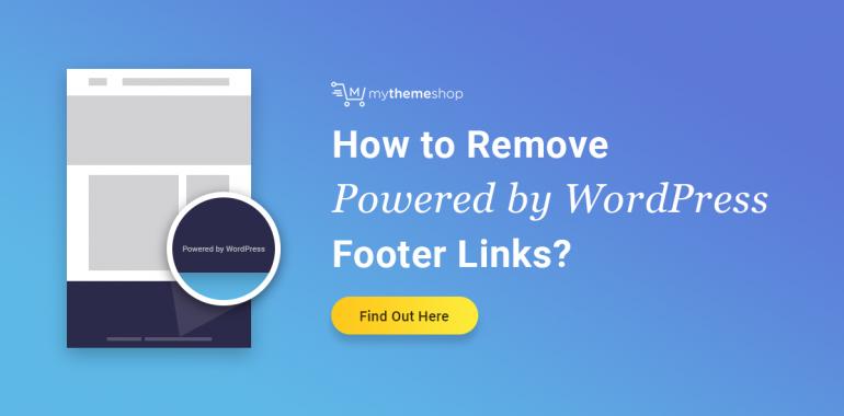 remove wordpress footer links