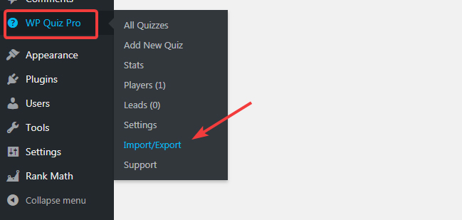 How To Import and Export Settings and Quizzes in WP Quiz Pro