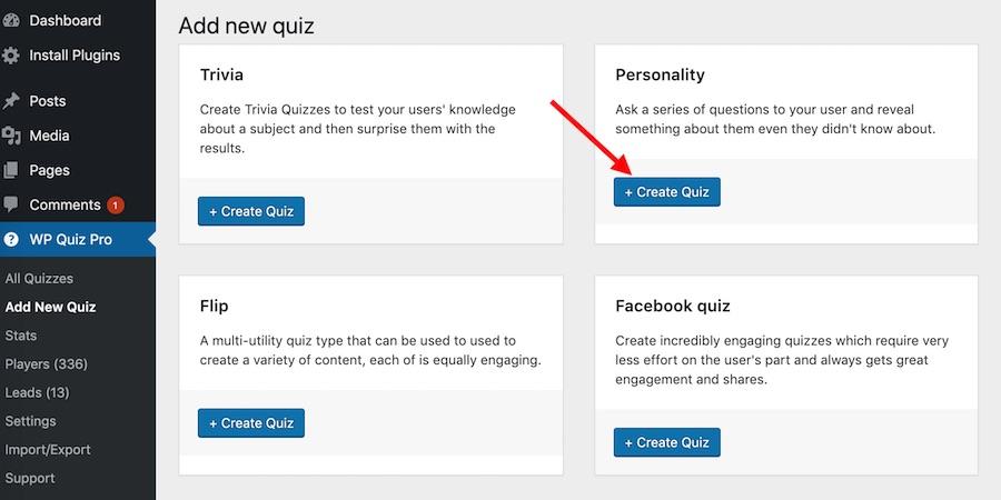Add a Personality Quiz